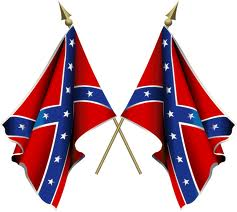 Double Confederate Battle Flags